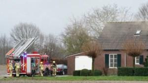 Brand in woonboerderij na blikseminslag