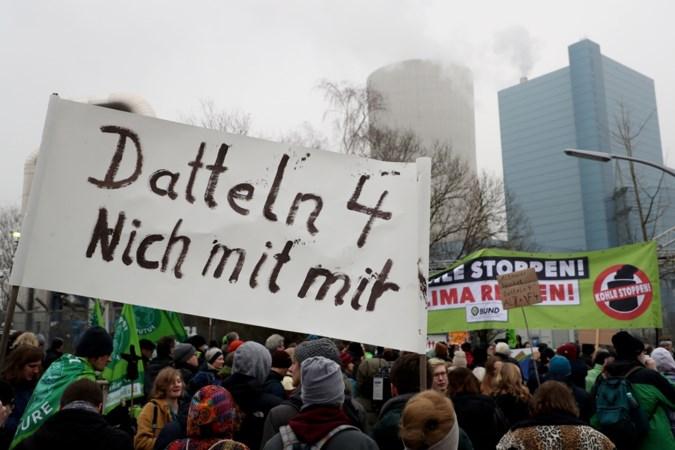 Nieuwe kolencentrale in Datteln even bezet