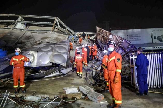 Vier doden door instorten 'quarantainehotel' China