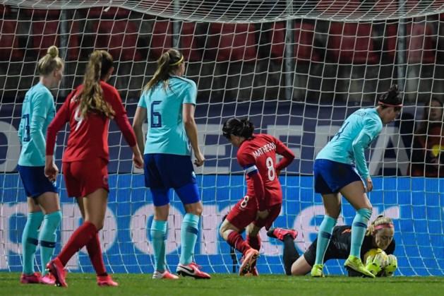 Voetbalsters spelen in leeg stadion tegen Frankrijk