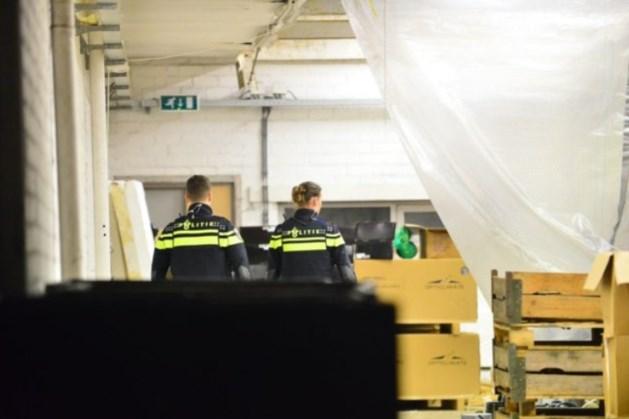 Goederen voor productie drugs aangetroffen in loods