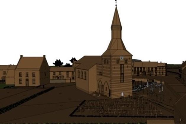 Maquette van oude kern Oirsbeek in de maak