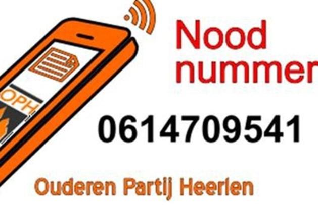 Vrijwilligers Ouderenpartij openen Cornona-noodnummer voor hulp en boodschappen in Heerlen