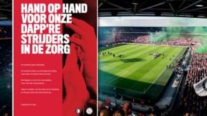 Feyenoord en Ajax zeggen samen 'dankjewel' tegen zorgverleners
