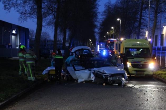 Auto botst tegen boom: twee personen zwaargewond afgevoerd