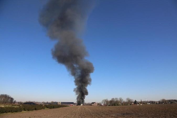 Brand verwoest schuur van varkensbedrijf in Heibloem: 'Hij was nu even snel iets halen. Gelukkig'