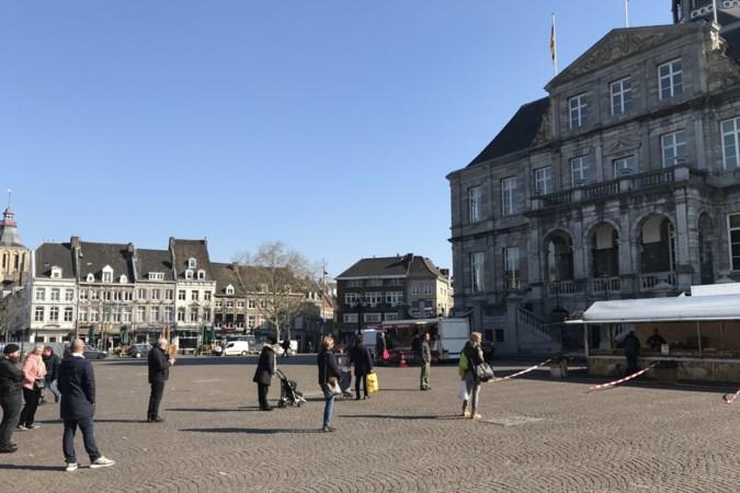 Markt in Maastricht is met vier kramen weer open: 'Het is hier veel veiliger dan in de supermarkt'