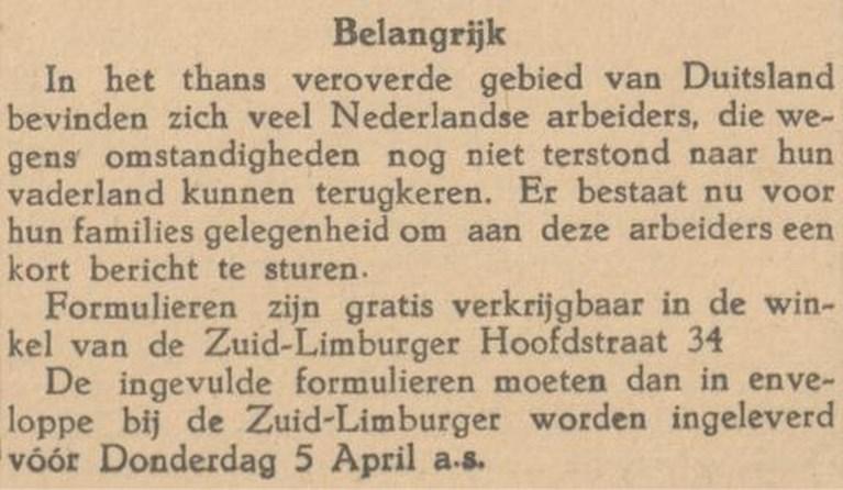 Week 30: Prins Bernhard eert koempels en Heerlense SS'er sterft in Duits veldhospitaal