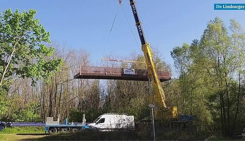 Video: Nieuwe brug over de Geleenbeek moet omgeving Thull naar hoger niveau tillen