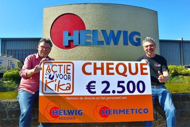 Geleense personeelsactie levert 2500 euro op voor KiKa