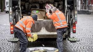 Tijdelijk oud papier containers in Nuth en Schimmert