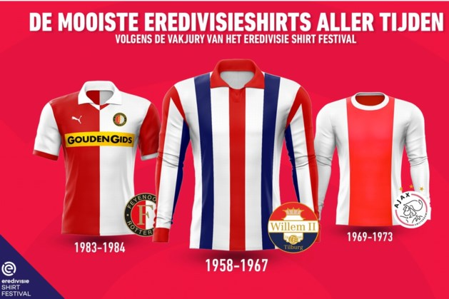 Willem II heeft mooiste shirt in historie eredivisie, MVV-shirt mooiste van jaren 50