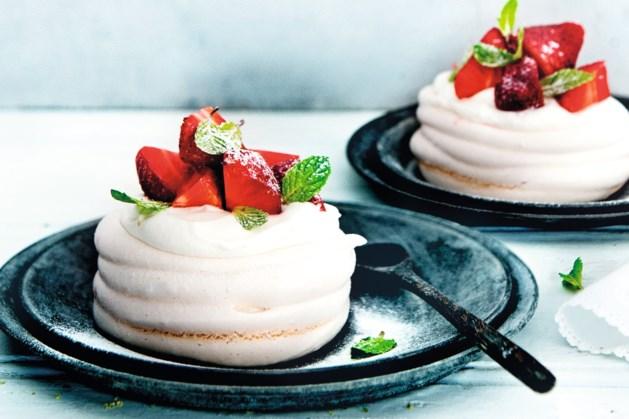 Recept: schuimgebakjes met verse aardbeien