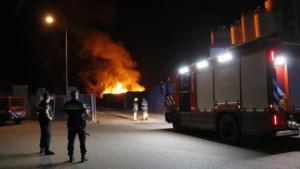 Honderd kuub afvalhout verloren door brand bij infrabedrijf AVG in Heijen