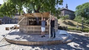 Stadsparksfeer op binnenplaats van Kasteel Limbricht: 'Coronatijd maakt creatief'