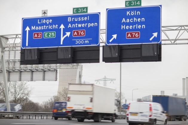 Weekendafsluiting A76 tussen knooppunt Kerensheide en grensovergang België