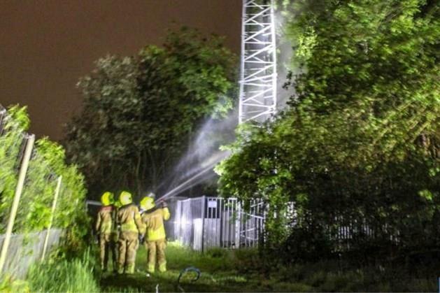 Man aangehouden voor zendmastbrand Maasbree