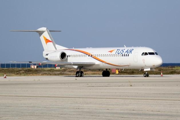 Rechter legt Fokker 70 van TUS Airways aan de ketting op MAA