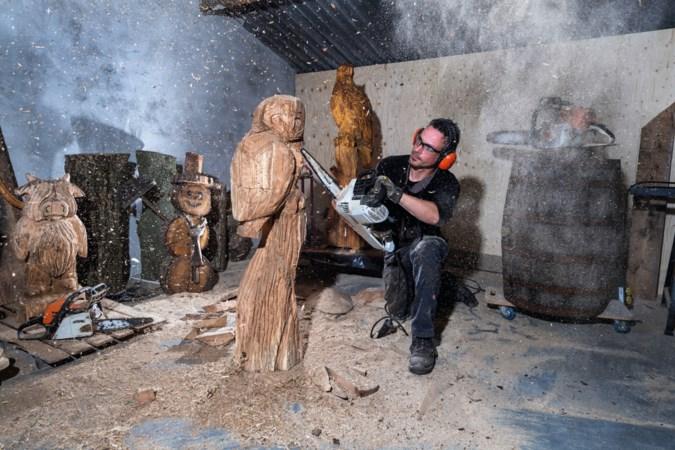 Lars uit Beringe geeft bomen een tweede leven als kunstwerk: 'De stam komt tot leven in mijn hoofd'