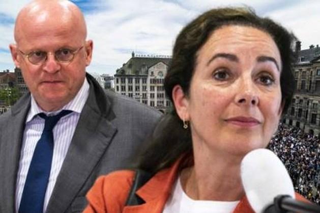 Halsema en Grapperhaus ruzieden via de app over demonstratie Dam
