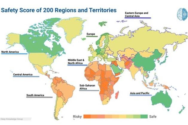 Dit zijn volgens onderzoek de veiligste landen in de coronacrisis