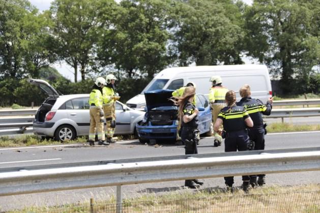 Ongeval met meerdere voertuigen op A73