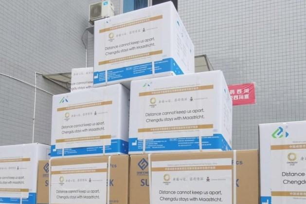Chengdu schenkt Maastricht 11.700 mondkapjes