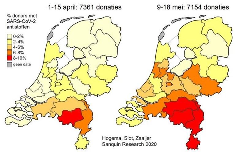 Limburgers en Brabanders hebben vaker antistoffen in bloed