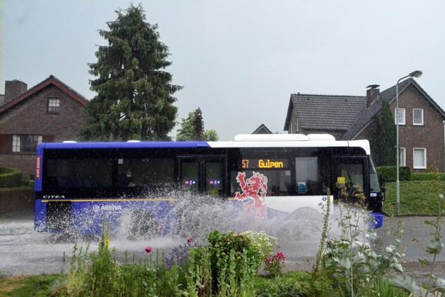 Onweersbuien en zware regenval zorgen voor overlast in Limburg