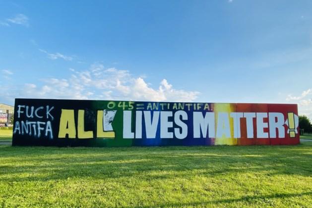 Black Lives Matter muurschildering beklad in Heerlen