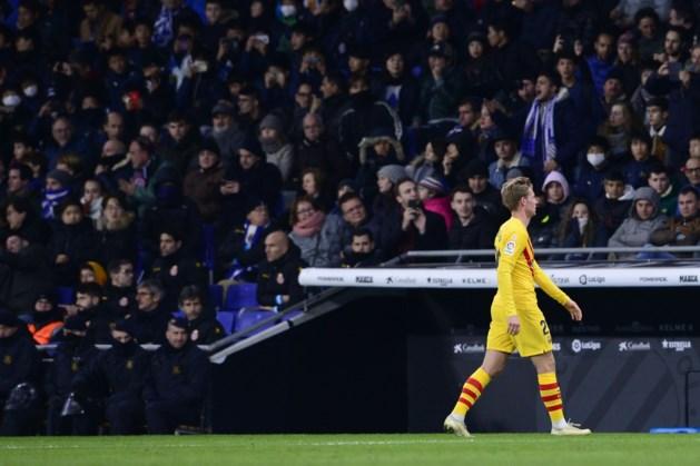 Barcelona voorlopig nog zonder De Jong