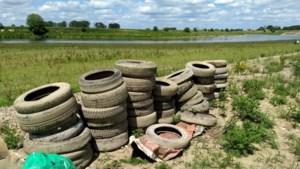 Actie zwerfafval: 47 autobanden geruimd langs Maas