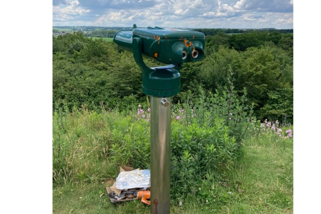 Verrekijker natuurgebied Oirsbeek wederom doelwit vandalisme