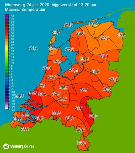 Eerste tropische dag is een feit: 30 graden in Limburg