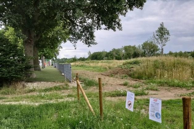 Waterbuffer achter basisschool Witheim in Mechelen loopt niet leeg