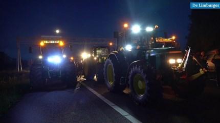 Video: Boeren blokkeren anderhalf uur A2 bij Ittervoort