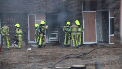 Video: Brand in Sittards woonzorgcentrum in aanbouw