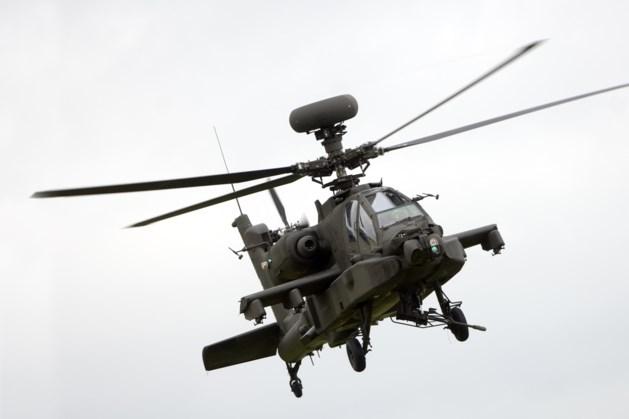 Amerikaanse helikopters vliegen over Limburg op weg naar Rotterdamse haven