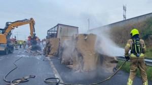 Roer- en Swalmentunnel dicht vanwege brandende vrachtwagen