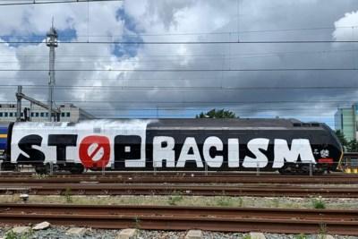 Trein bespoten met 'Stop Racism'-boodschap, NS doet aangifte van vandalisme