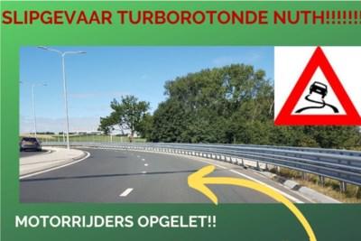 Provincie bekijkt of voor motorrijders gevaarlijke turborotonde bij Nuth moet worden aangepast