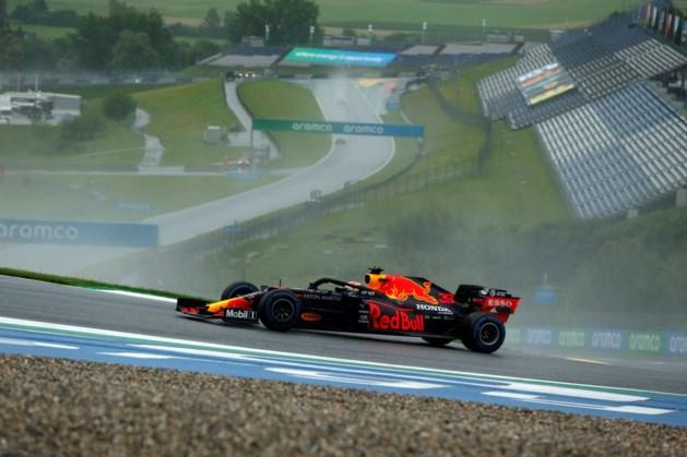 Verstappen kwalificeert zich als tweede op kletsnatte Red Bull Ring