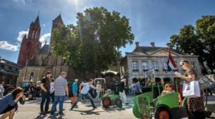 Publieksvriendelijke actie van Limburgse boeren op het Vrijthof
