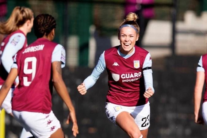 Nadine Hanssen viert promotie met Aston Villa via een videocall