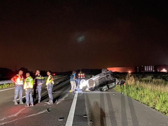 Video: Vijf personen gewond bij ongeluk met twee auto's op A73