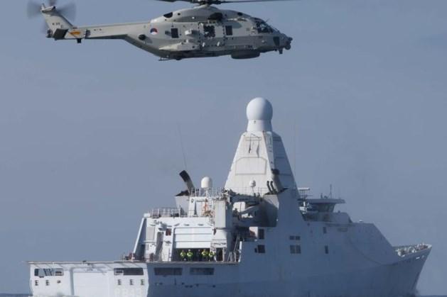 Legerhelikopter crashte vlakbij moederschip