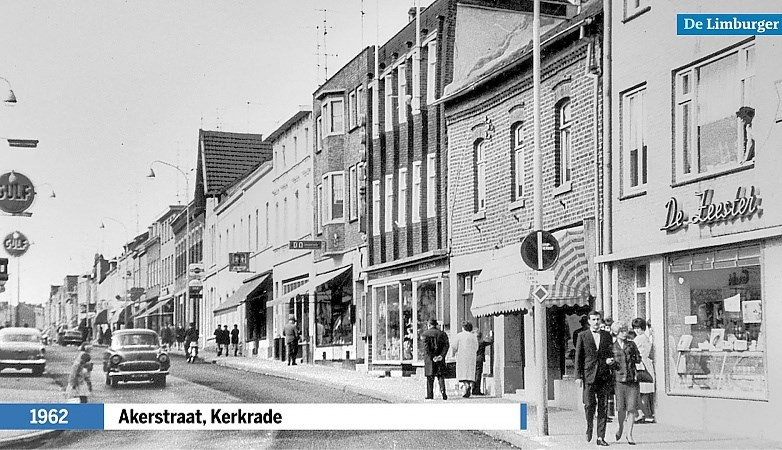 Akerstraat in Sjpekhei: op 'de Reeperbahn van Kerkrade' was alles te doen, te krijgen en te vinden