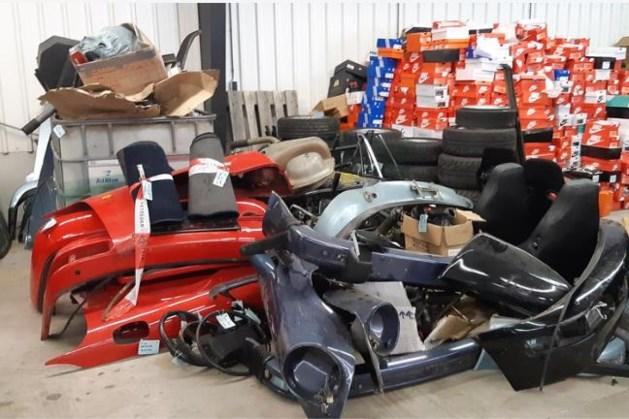 Politie vindt tientallen oldtimer-onderdelen in garagebox Urmond