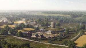 Wie in de nieuwe kasteeltuinen ook terug wil keren naar kasteel Etzenrade heeft wel wat fantasie nodig