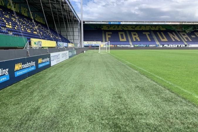 'Tropisch' openluchtdiner voor 300 mensen op veld Fortuna-stadion
